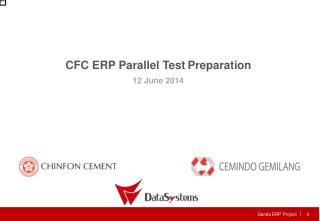 CFC ERP Parallel Test Preparation