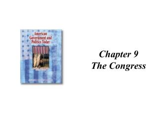 Chapter 9 The Congress