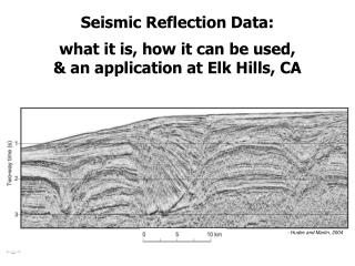 Seismic Reflection Data:  what it is, how it can be used,  & an application at Elk Hills, CA