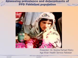 Assessing prevalence and determinants of PPD Pakistani population