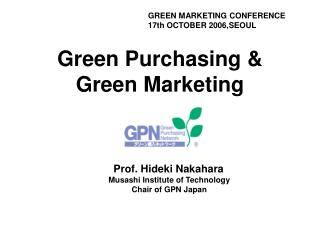 Green Purchasing & Green Marketing