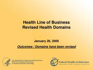 Health Line of Business Revised Health Domains