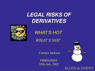 LEGAL RISKS OF DERIVATIVES