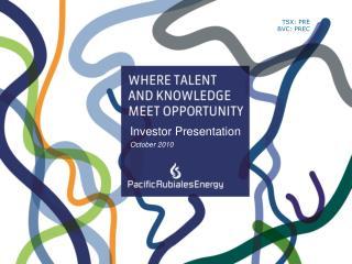 Investor Presentation October 2010