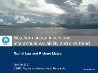 Southern ocean inversions: interannual variability and sink trend