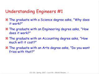 Understanding Engineers #1