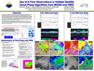 Use of A-Train Observations to Validate Satellite Cloud Phase Algorithms from MODIS and VIIRS