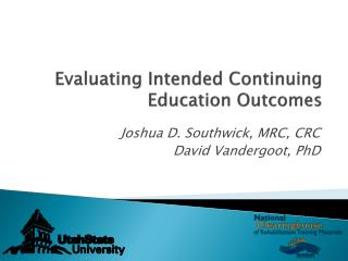 Evaluating Intended Continuing  Education  Outcomes