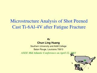 Microstructure Analysis of Shot Peened Cast Ti-6Al-4V after Fatigue Fracture