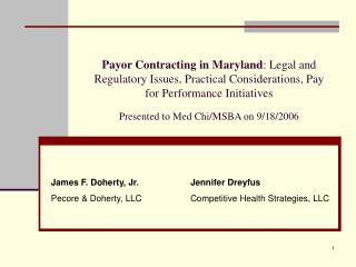 Jennifer Dreyfus Competitive Health Strategies, LLC