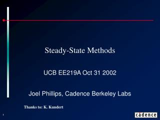 Steady-State Methods