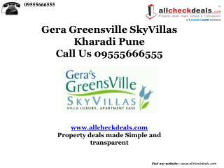 Gera SkyVillas Pune By Gera Development