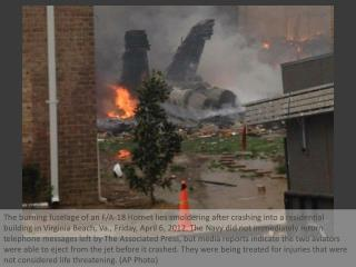Navy jet crashes in Virginia