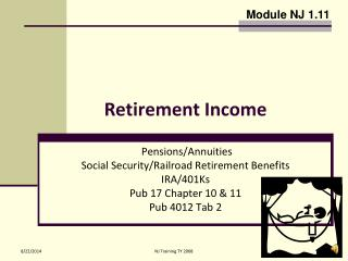 Retirement Income
