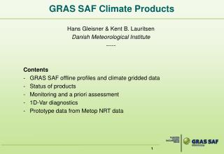 GRAS SAF Climate Products