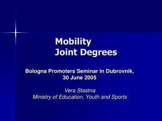 Mobility  Joint Degrees