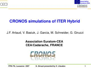 CRONOS simulations of ITER Hybrid