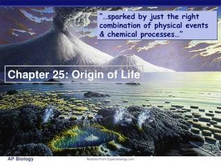 Chapter 25: Origin of Life