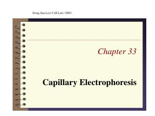 Chapter 33 Capillary Electrophoresis