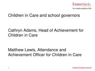 Who are Children in Care?