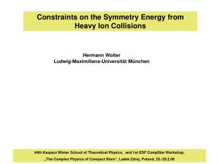 Constraints on the Symmetry Energy from Heavy Ion Collisions