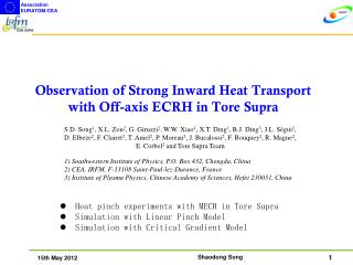 Observation of Strong Inward Heat Transport with Off-axis ECRH in Tore Supra