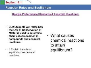 Georgia Performance Standards & Essential Questions: