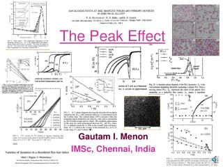 The Peak Effect