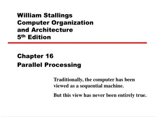 William Stallings  Computer Organization  and Architecture 5 th  Edition
