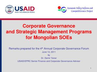 Corporate Governance  and Strategic Management Programs  for Mongolian SOEs