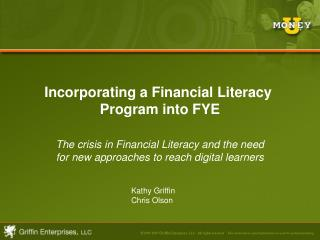 Incorporating a Financial Literacy  Program into FYE