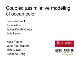 Coupled assimilative modeling of ocean color