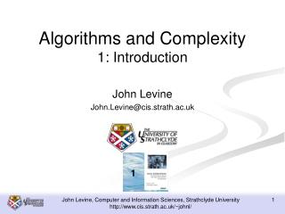 Algorithms and Complexity 1: Introduction