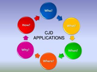 CJD APPLICATIONS