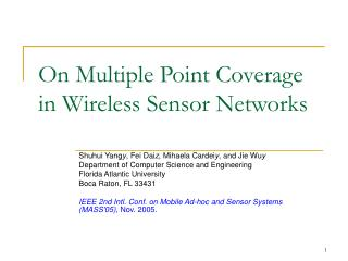 On Multiple Point Coverage in Wireless Sensor Networks