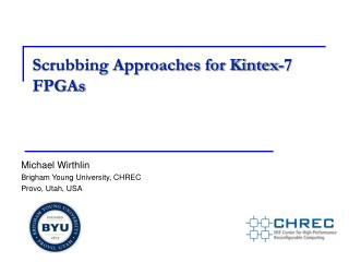 Scrubbing Approaches for Kintex-7 FPGAs