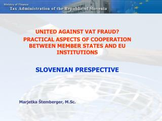 UNITED AGAINST VAT FRAUD?