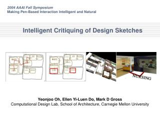 Intelligent Critiquing of Design Sketches