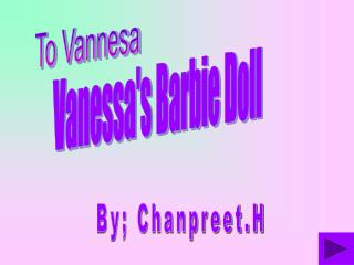 Vanessa's Barbie Doll