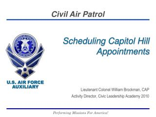 Scheduling Capitol Hill Appointments