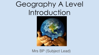 Geography A Level Introduction