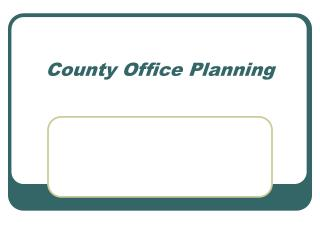 County Office Planning