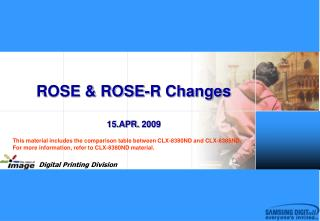 ROSE & ROSE-R Changes 15 .APR.  2009