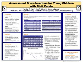 Assessment Considerations for Young Children with Cleft Palate