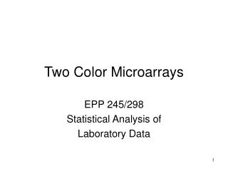 Two Color Microarrays
