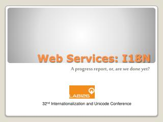 Web Services: I18N