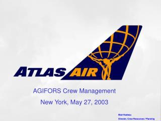 AGIFORS Crew Management New York, May 27, 2003