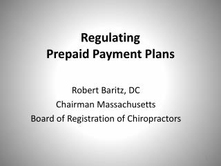 Regulating Prepaid Payment Plans
