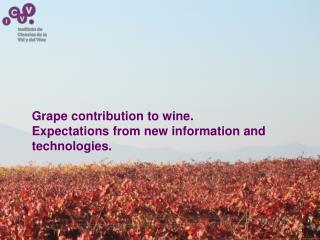 Grape contribution to wine. Expectations from new information and technologies.