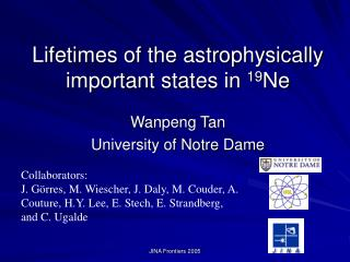 Lifetimes of the astrophysically important states in  19 Ne